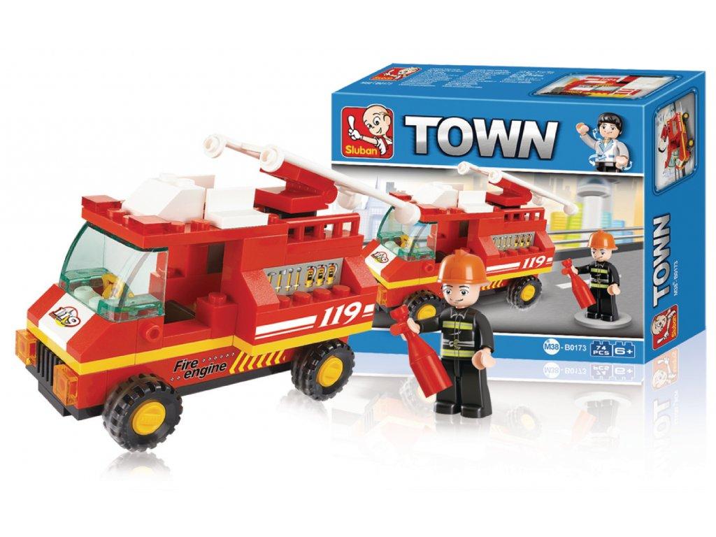 Stavebnicové Kostky Town Serie Hasičský Vůz