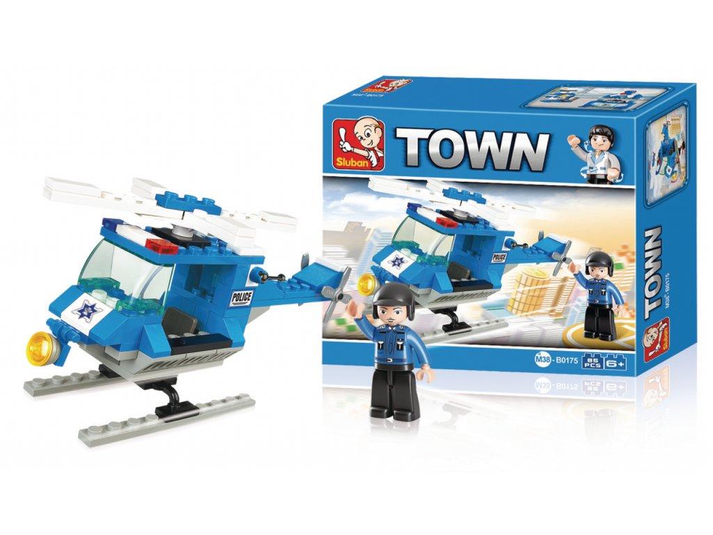 Stavebnicové Kostky Town Serie Policejní Helikoptéra