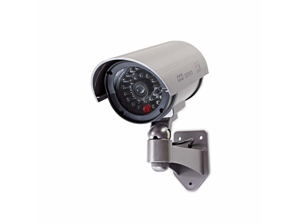 Nedis DUMCB40GY atrapa venkovní bezpečnostní CCTV kamery s IR LED, IP44, šedá