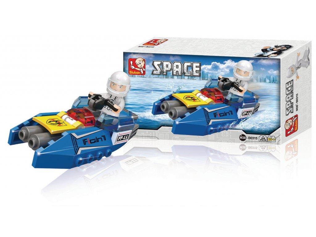 Stavebnicové Kostky Space Serie Vesmírná Raketa