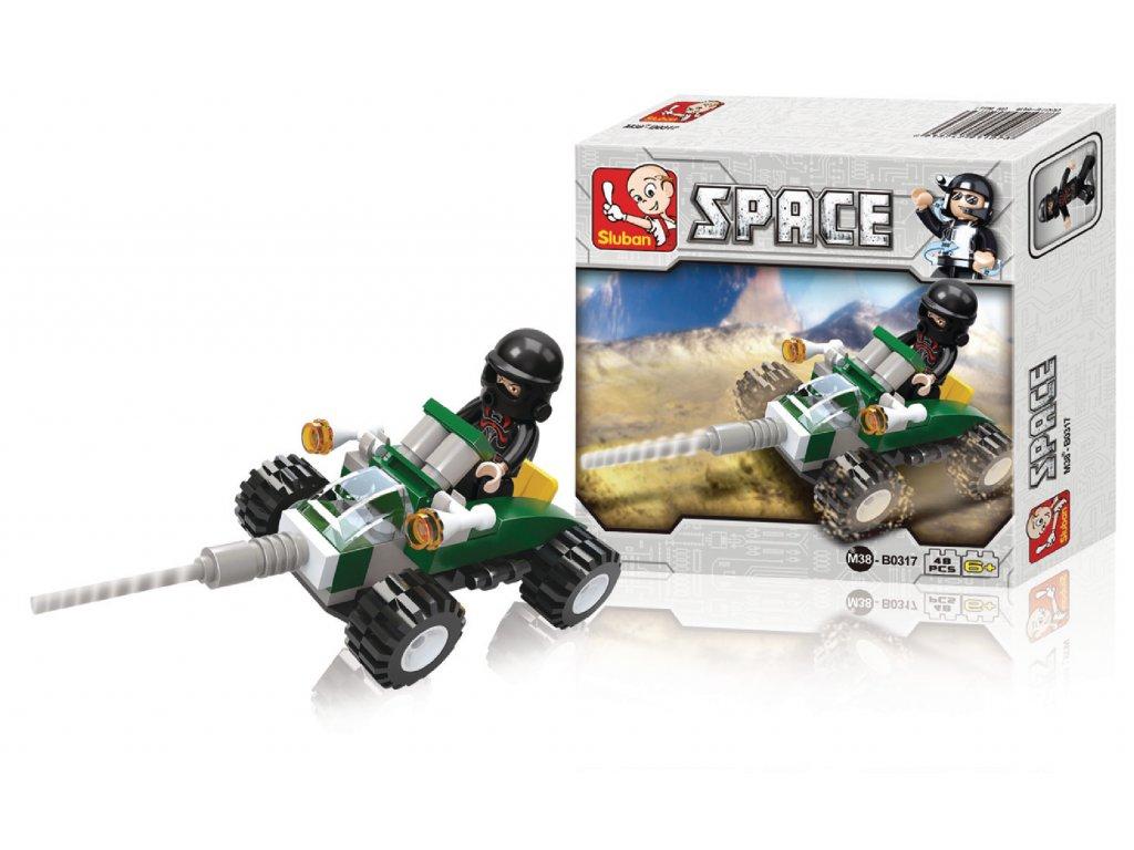 Stavebnicové Kostky Space Serie Vesmírná Čtyřkolka