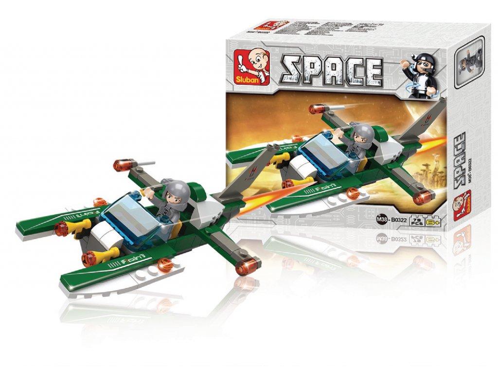 Stavebnicové Kostky Space Serie Vesmírná Loď