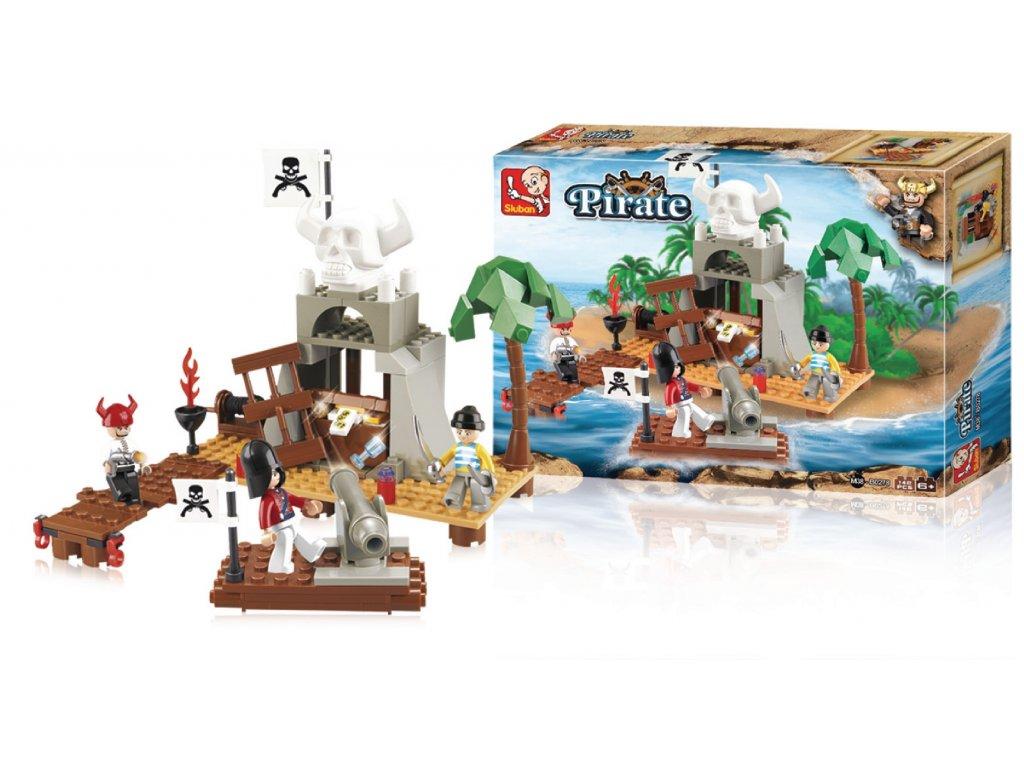 Stavebnicové Kostky Pirate Serie Ostrov pokladů