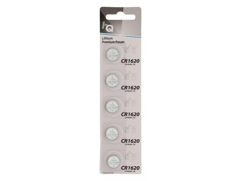 HQ lithiové knoflíkové baterie CR1620 1ks, HQCR1620