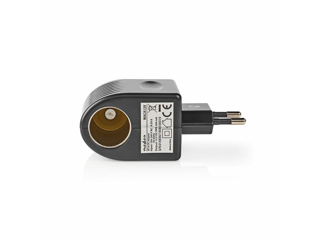 Nedis WACA12V napájecí adaptér z 230V na autozásuvku 12V 0.5A