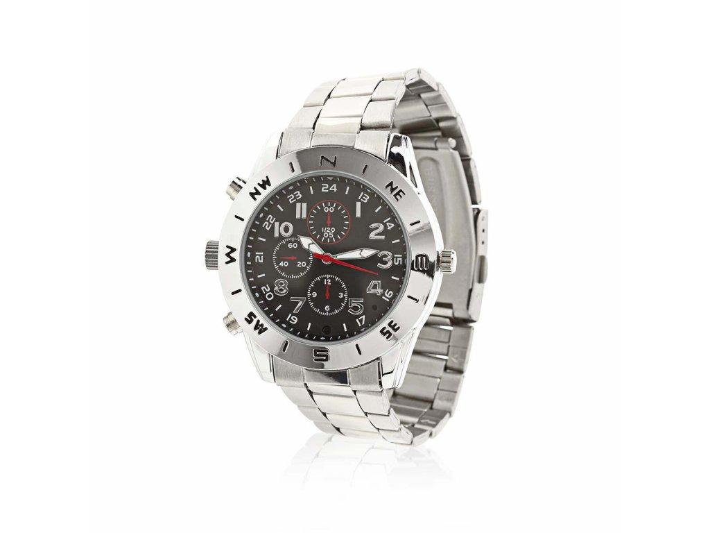 Nedis SPYCWW10CM hodinky se skrytou kamerou, video 720 x 480, foto 1280 x 1024, paměť 8 GB, dobíjecí