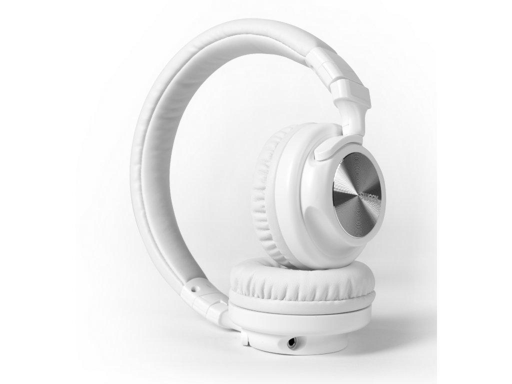 Sweex Streetline uzavřená sluchátka s mikrofonem na kabelu, bílá, SWHP200W