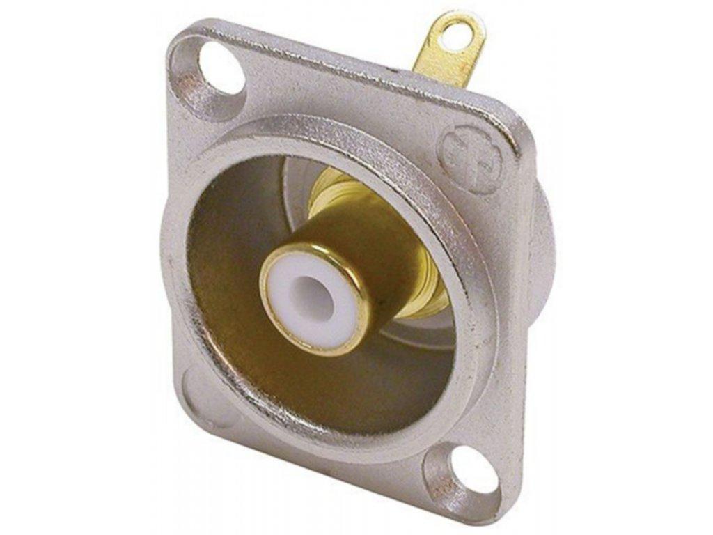 Neutrik panelová zásuvka CINCH (RCA), niklovaná/bílá (NTR-NF2D-9)