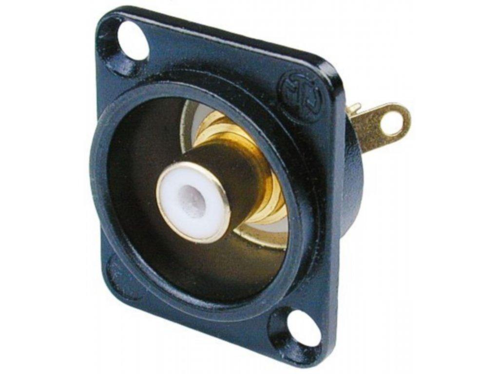 Neutrik panelová zásuvka CINCH (RCA), černá/bílá (NTR-NF2D-B-9)