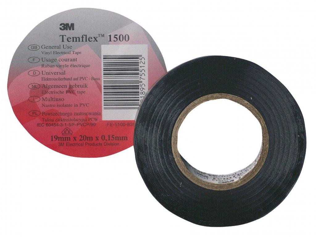 3M páska izolační 15mm x 10m - černá (TAPE-BLACK/3M)