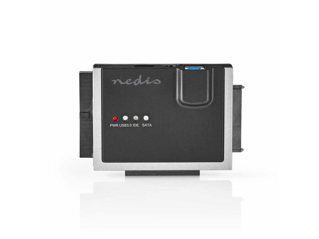"Nedis HDADIS100BK USB 3.0 adaptér pro pevný disk 2.5""/3.5"", IDE/SATA, včetně zdroje"