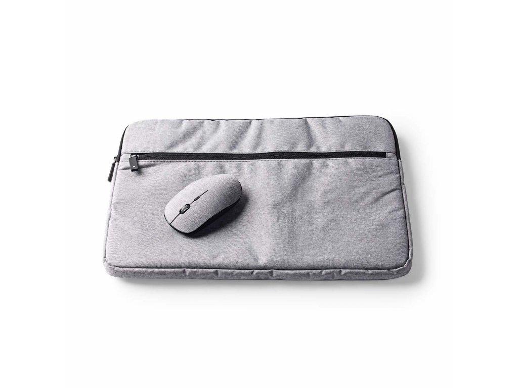 "Nedis NBSM15100GY sada pouzdro na notebook 15–16"", bezdrátová myš 1 600 dpi, šedá"