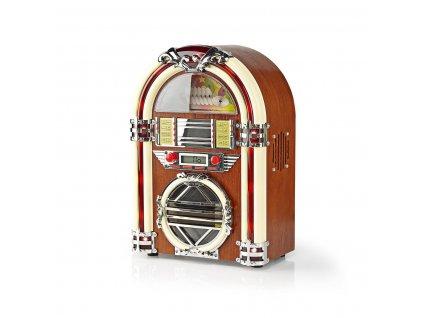 Nedis RDJB3000BN stolní retro jukebox s CD přehrávačem a rádiem, 3 W