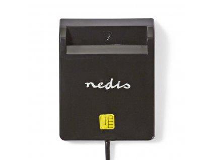 Nedis CRDRU2SM2BK čtečka eObčanky a čipových karet Smart Card USB 2.0