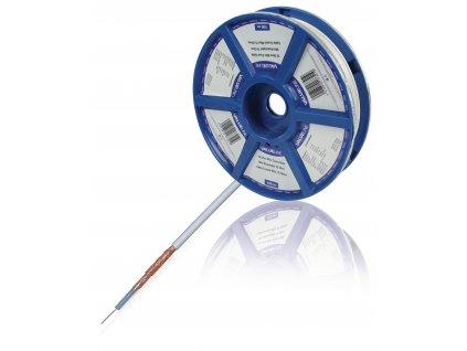 Měděný koaxiální kabel 3.7 mm, 100 m, Valueline VLSR40904R100