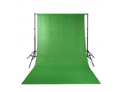 Nedis BDKT10GN sada fotopozadí včetně stojanu, 2.00 × 3.00 m, zelená