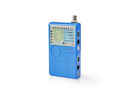 Nedis NWCTM100BU multifunkční tester kabelů s RJ45, RJ11, USB, BNC