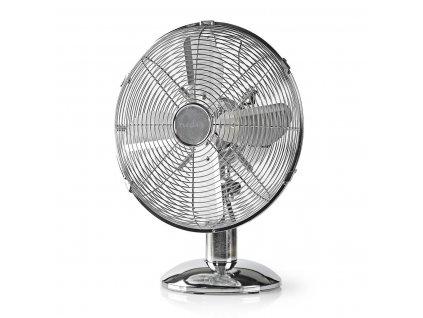Nedis FNTB20ECR30 kovový ventilátor stolní 30 cm, 35 W, funkce oscilace, chrom