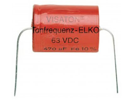 Kondenzátor bipolární, 22 uF, 63 V DC, Visaton VS-22/63BA