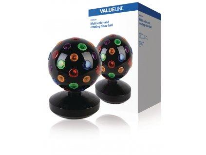 Barevná rotující disco koule 20 cm Valueline VLBALL01