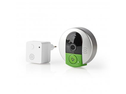 Nedis domovní zvonek s kamerou, microSD, HD 720p (DOORPW10CBK)