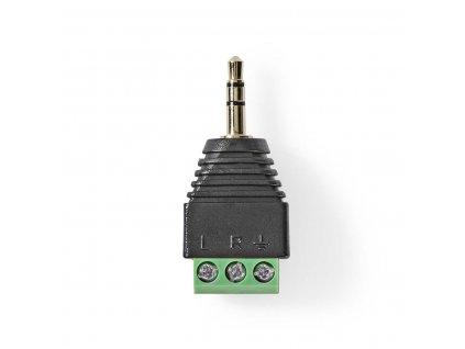 Nedis JACK 3.5mm zástrčka s 3 pin. terminálovou svorkovnicí, 5 ks (CCTVCM50BK5)