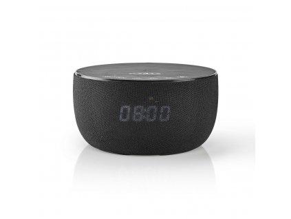 Nedis SPBT4000BK Bluetooth® reproduktor 30 W s bezdrátovou nabíječkou 5 W, až 6 hodin hraní, hodiny, černá