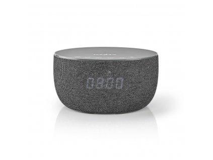 Nedis SPBT4000GY Bluetooth® reproduktor 30 W s bezdrátovou nabíječkou 5 W, až 6 hodin hraní, hodiny, šedá