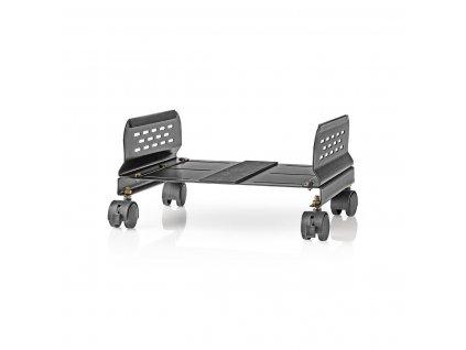 Nedis ERGOCSTD200BK ergonomický podstavec pro PC s kolečky, nastavitelná šířka, černá