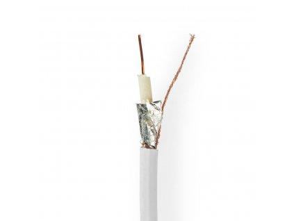 Nedis koaxiální kabel RG6T, 6.8 mm, 10 m, bílá (CSBR4010WT100)