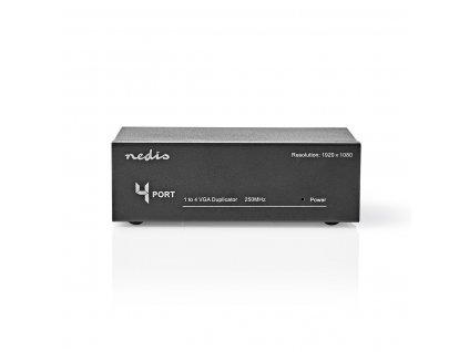 Nedis CSPL5904BK VGA rozbočovač 1 vstup na 4 výstupy