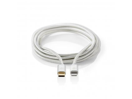 Nedis CCTB39650AL10 Apple Lightning certifikovaný kabel zástrčka Apple Lightning 8-pin - zástrčka USB-C, aluminium, 1 m