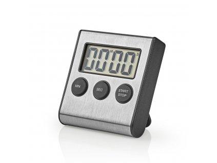 Nedis KATR103SS digitální kuchyňská minutka, broušený hliník
