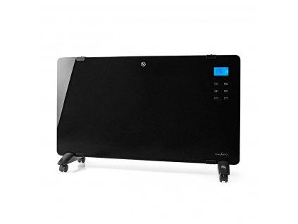 Nedis HTPL20FBK skleněný konvekční přímotop, LCD displej, 2000 W, černá