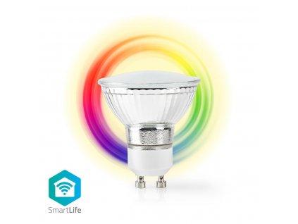 Nedis SmartLife chytrá LED žárovka GU10 5W 330lm barevná + teplá bílá (WIFILC10CRGU10)