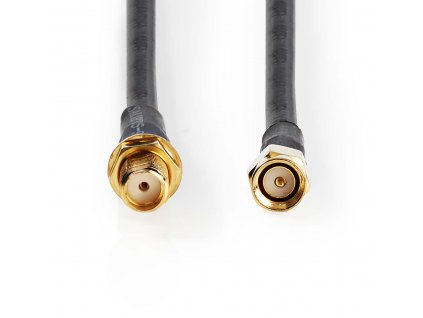 Nedis koaxiální WLAN anténní kabel HSR-200 SMA zástrčka – SMA zásuvka, 15 m (CSGP02400BK150)