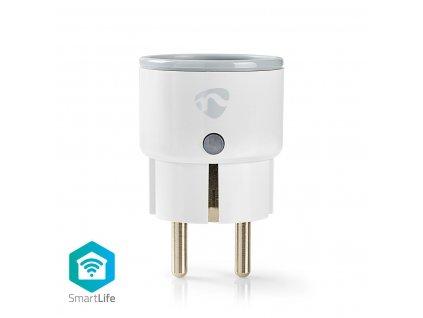 Nedis SmartLife chytrá zásuvka, monitor spotřeby, ochranný kolík, 10 A (WIFIP110EWT)