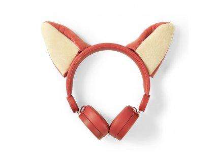 Nedis® Animaticks Franky Fox uzavřená sluchátka s odpojitelným kabelem 1.2m (HPWD4000OG)