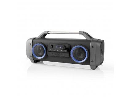Nedis SPBB300BK Bluetooth® párty přehrávač, FM rádio, 60W, TWS, 12 hod. přehrávání, světelné efekty, funkce karaoke