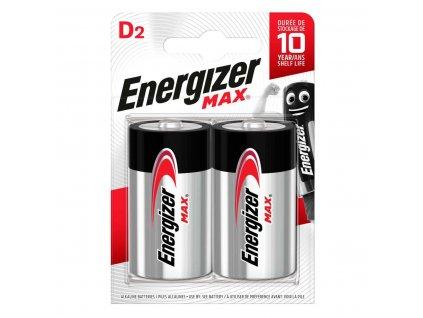 Alkalická baterie Energizer Max D/LR20 1.5V, 2ks (EN-MAXD2)