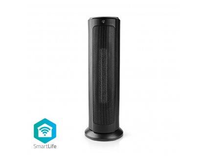Chytrý Nedis SmartLife WiFi chytrý teplovzdušný sloupový ventilátor, 1200/2000W, termostat, černá (WIFIFNH10CBK)