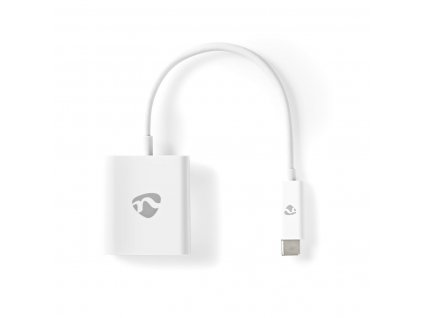 Nedis CCGP64651WT02 adaptér zástrčka USB-C - zásuvka HDMI, 0.2 m, bílá