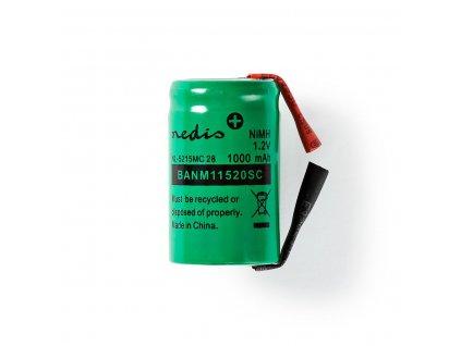 Akumulátor NiMH 1.2V/1000mAh, páskové vývody (BANM11520SC)