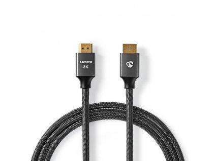Nedis Fabritalic Ultra HD HDMI™ kabel, 8K až 48 GB/s, zástrčka HDMI - zástrčka HDMI, 1 m (CVTB35000GY10)
