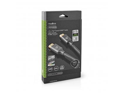 Nedis Fabritallic Ultra HD HDMI™ kabel, 8K až 48 GB/s, zástrčka HDMI - zástrčka HDMI, 2 m (CVTB35000GY20)