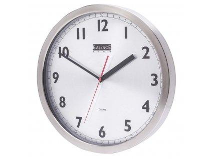 Analogové nástěnné hodiny 40 cm hliníkové, Balance 506740