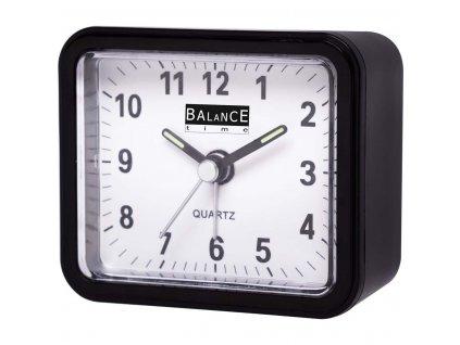 Klasický budík Quartz černý, Balance 132879