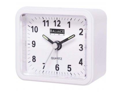 Klasický budík Quartz bílý, Balance 132941