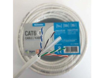 Síťový Kabel CAT6 UTP RJ45 (8P8C) Zástrčka - RJ45 (8P8C) Zástrčka 100 m Bílá