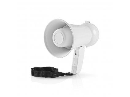 Nedis MEPH100WT megafon 15 W, bílý, včetně samolepek pro fanoušky fotbalu